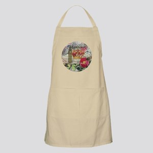 London England Vintage Travel Collage Apron