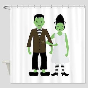Frankenstein Bride Shower Curtain