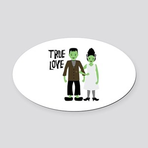 True Love Oval Car Magnet