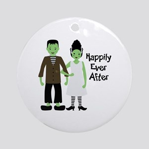 Happily Ever After Round Ornament