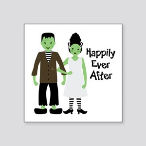 """Happily Ever After Square Sticker 3"""" x 3"""""""