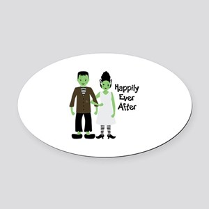 Happily Ever After Oval Car Magnet