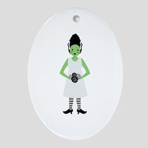 Monster Bride Ornament (Oval)