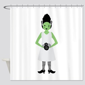 Monster Bride Shower Curtain