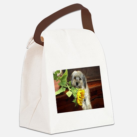 Morkie Canvas Lunch Bag