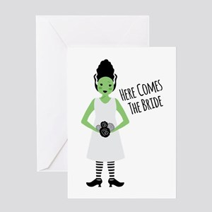 Here Comes The Bride Greeting Cards