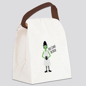 Here Comes The Bride Canvas Lunch Bag