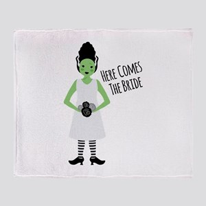 Here Comes The Bride Throw Blanket
