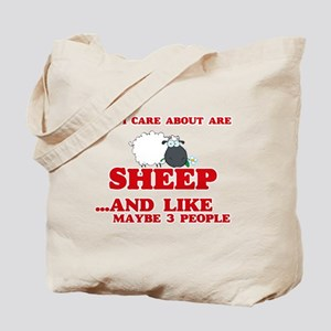 All I care about are Sheep Tote Bag