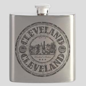 Cleveland Stamp Flask