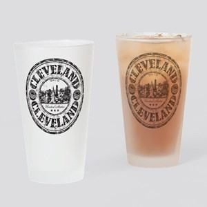 Cleveland Stamp Drinking Glass