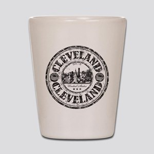 Cleveland Stamp Shot Glass