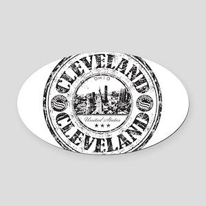 Cleveland Stamp Oval Car Magnet