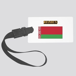 Belarus With Text Large Luggage Tag