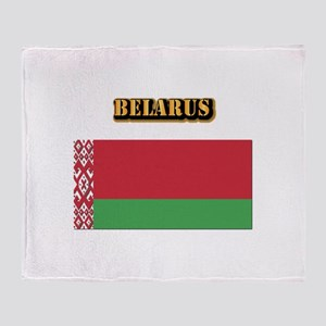 Belarus With Text Throw Blanket