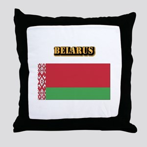 Belarus With Text Throw Pillow