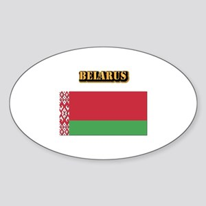 Belarus With Text Sticker (Oval)