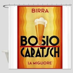 Birra, Beer, Italian Vintage Poster Shower Curtain