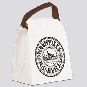 Nashville Stamp Canvas Lunch Bag