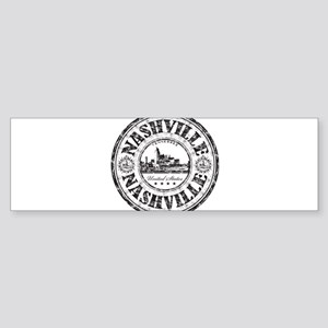 Nashville Stamp Bumper Sticker