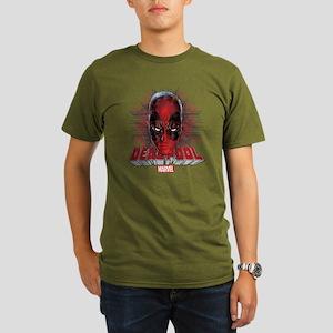 Deadpool Face 2 Organic Men's T-Shirt (dark)