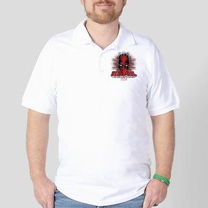 Deadpool Face 2 Golf Shirt