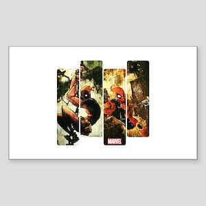 Deadpool Art Panel 2 Sticker (Rectangle)