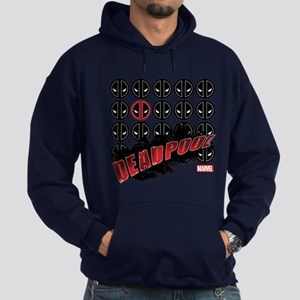 Deadpool Faces Hoodie (dark)