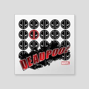 "Deadpool Faces Square Sticker 3"" x 3"""