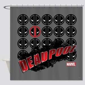 Deadpool Faces Shower Curtain