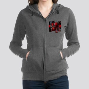 Deadpool Art Panel Zip Hoodie