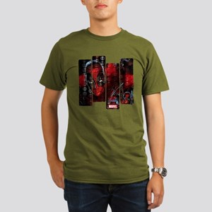 Deadpool Art Panel Organic Men's T-Shirt (dark)