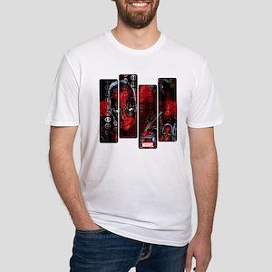 Deadpool Art Panel Fitted T-Shirt