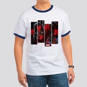 Deadpool Art Panel Ringer T