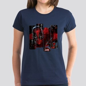 Deadpool Art Panel Women's Dark T-Shirt