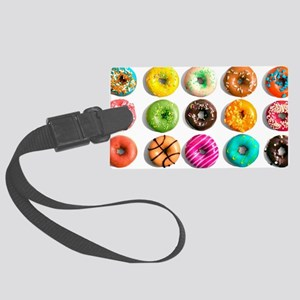 Donuts, Donuts Everywhere Large Luggage Tag
