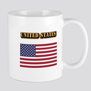 Flag of the United States With Text Mug