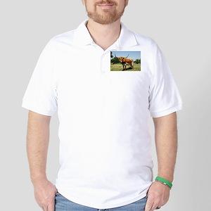 Longhorn Cow Golf Shirt