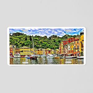 Portofino Painting Aluminum License Plate