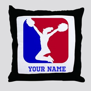 USA Red and Blue Cheerleader Throw Pillow
