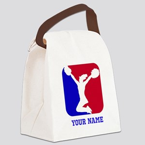 USA Red and Blue Cheerleader Canvas Lunch Bag