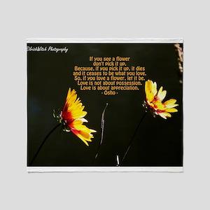 Love is a Flower Throw Blanket