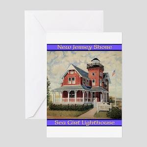 Sea Girt Lighthouse Greeting Cards