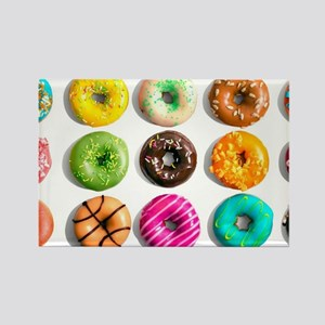 Rainbow Donuts Rectangle Magnet