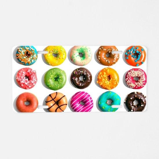 Rainbow Donuts Aluminum License Plate