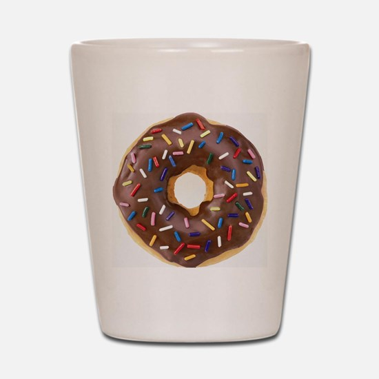 Chocolate Donut and Rainbow Sprinkles Shot Glass