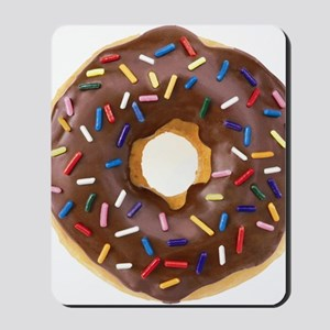 Chocolate Donut and Rainbow Sprinkles Mousepad
