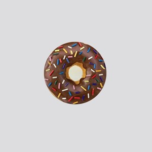 Chocolate Donut and Rainbow Sprinkles Mini Button