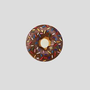 Chocolate Donut and Rainbow Sprinkles Mini Button