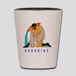 Zodiac  aquarius Shot Glass